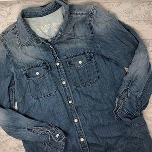 GAP 1969 Button Up Denim Shirt
